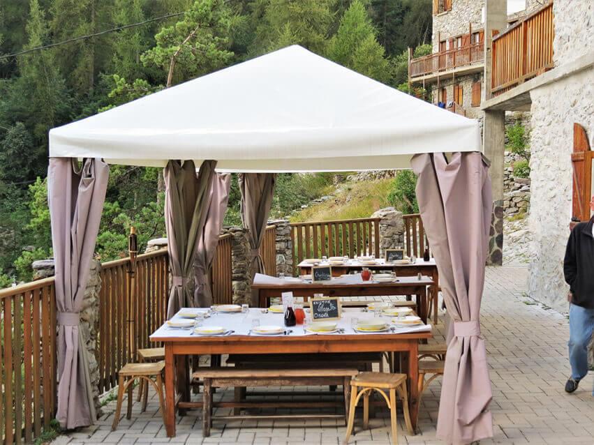 restaurant neige et merveilles terrasse